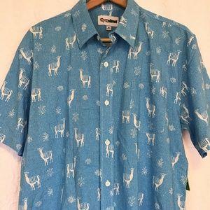 2e2e0919fb0 Tipsy Elves No Drama Llama Hawaiian Shirt